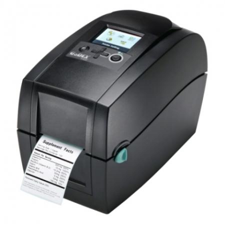 GoDEX RT230i - Direkt Wärme/Wärmeübertragung - 300 x 300 DPI - 127 mm/sek - 5,69 cm - 76,2 cm - Schwarz