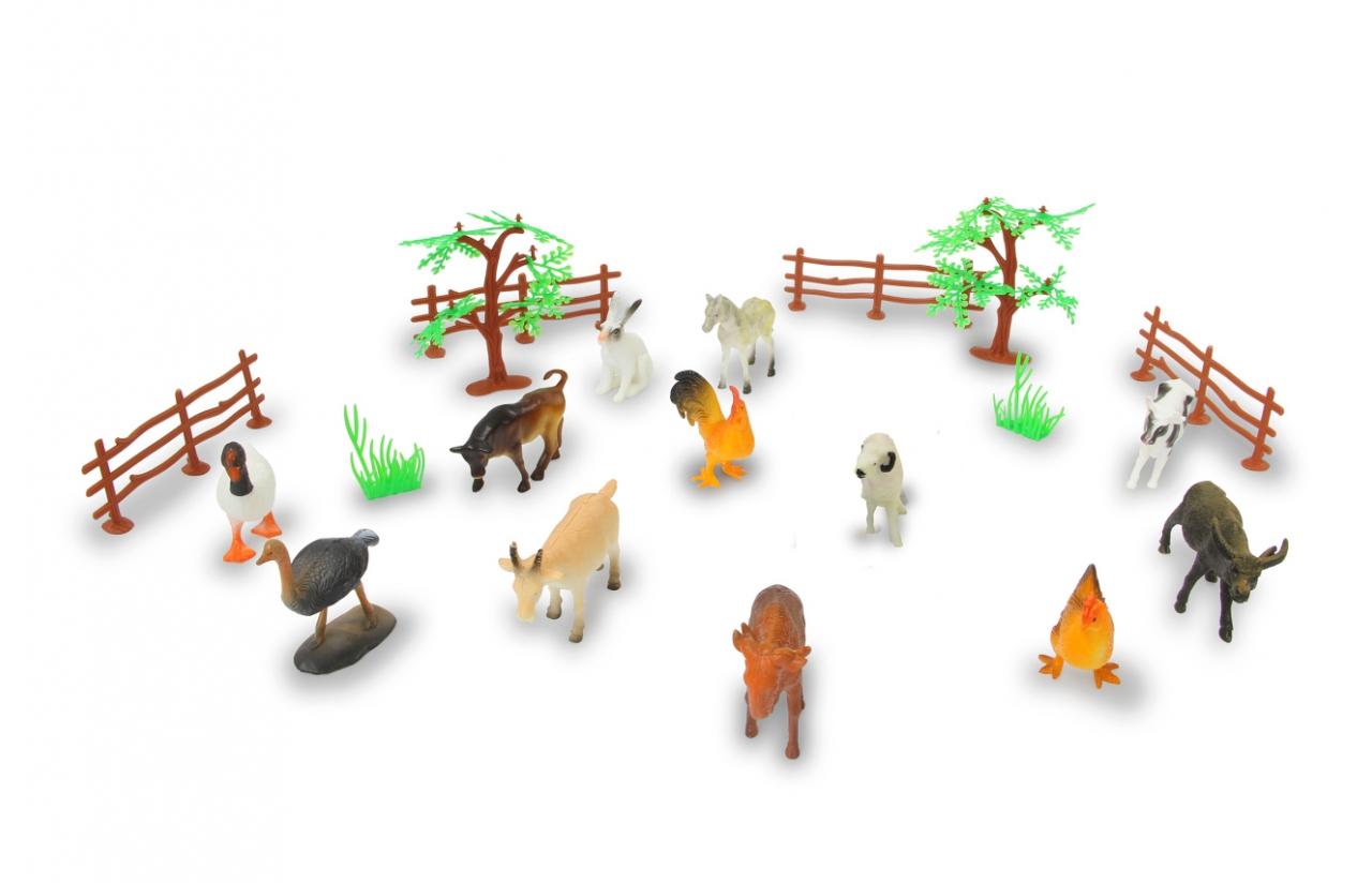 JAMARA Farm animals Set - 20 Stück(e) - Junge/Mädchen - 3 Jahr(e) - Kunststoff - Mehrfarben