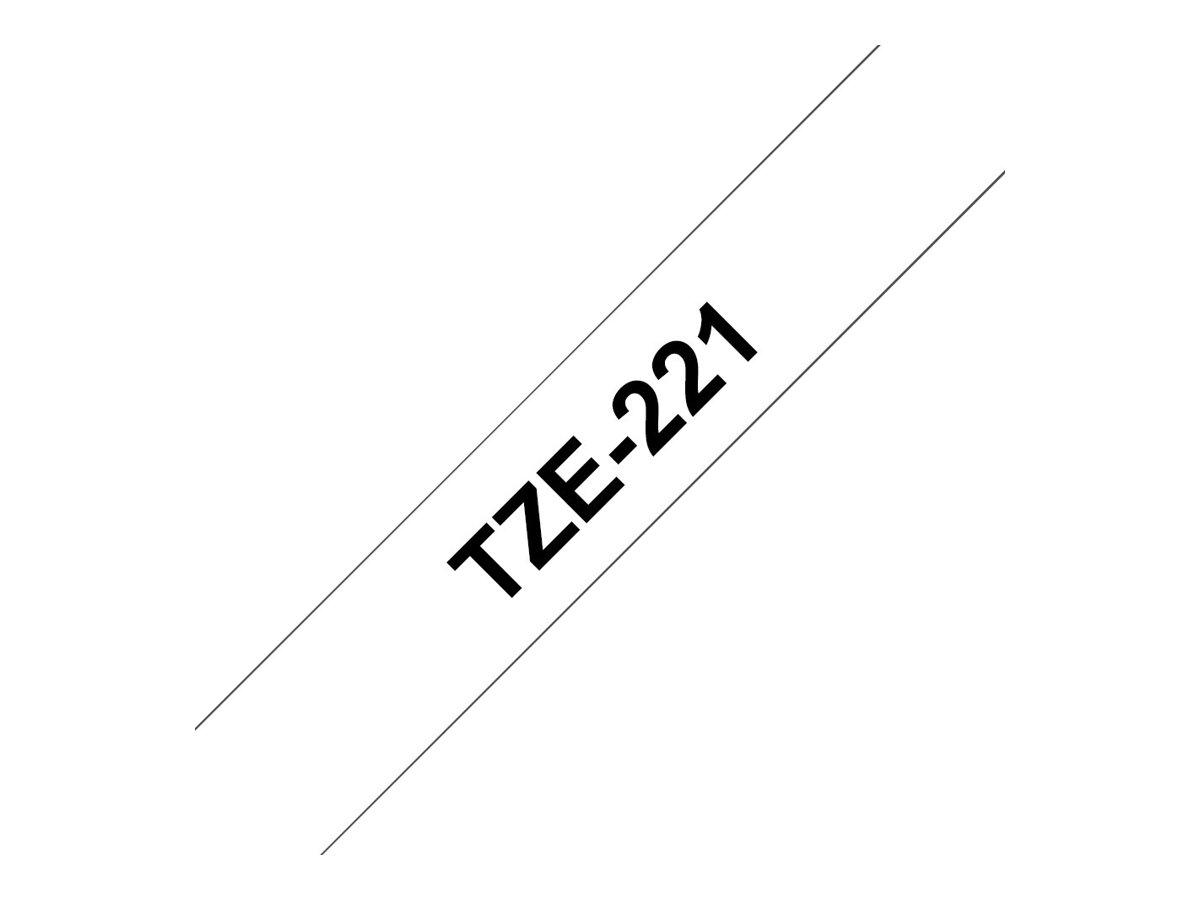 Brother TZe221 - Klebstoff - Schwarz auf Weiß