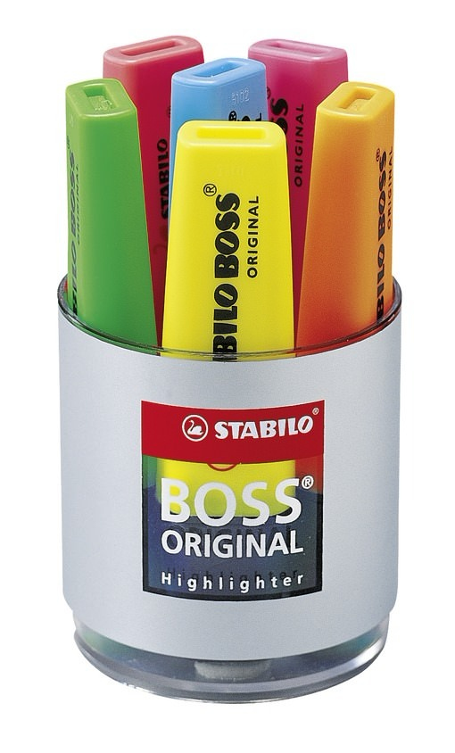 STABILO BOSS Original 1 pc(s) Green Chisel tip Black,Green Polypropylene 2 mm