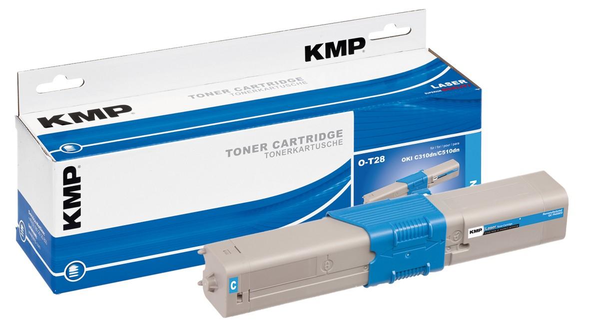 KMP O-T28 - 50 g - Cyan - compatible - Tonerpatrone