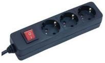 Brennenstuhl Steckdosenleiste 3-fach 1.4m schwarz mit Schalter