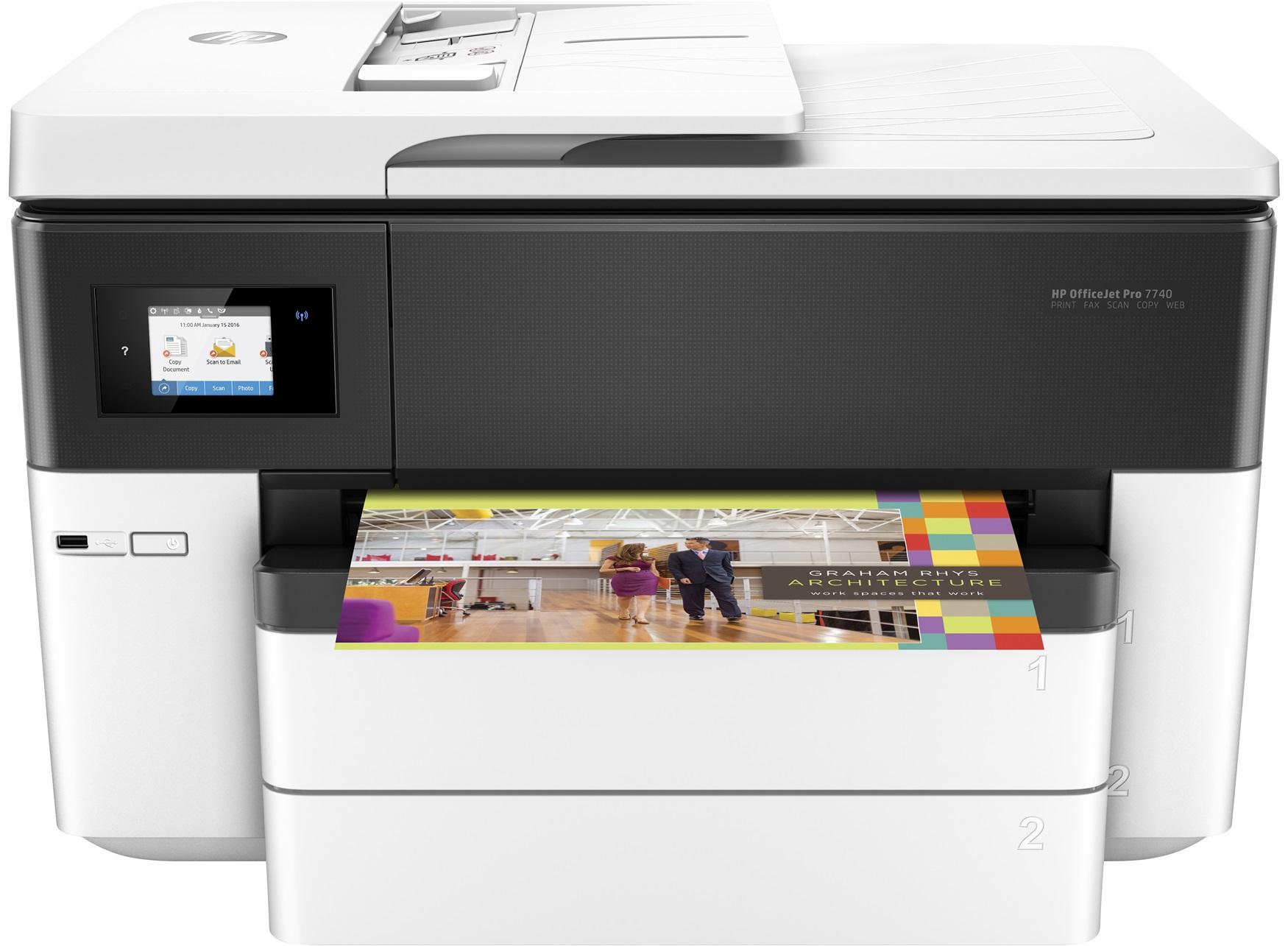 HP OfficeJet Pro 7740, Tinte, MFP, A3