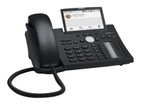 D375 IP-Telefon Schwarz Kabelgebundenes Mobilteil TFT 12 Zeilen