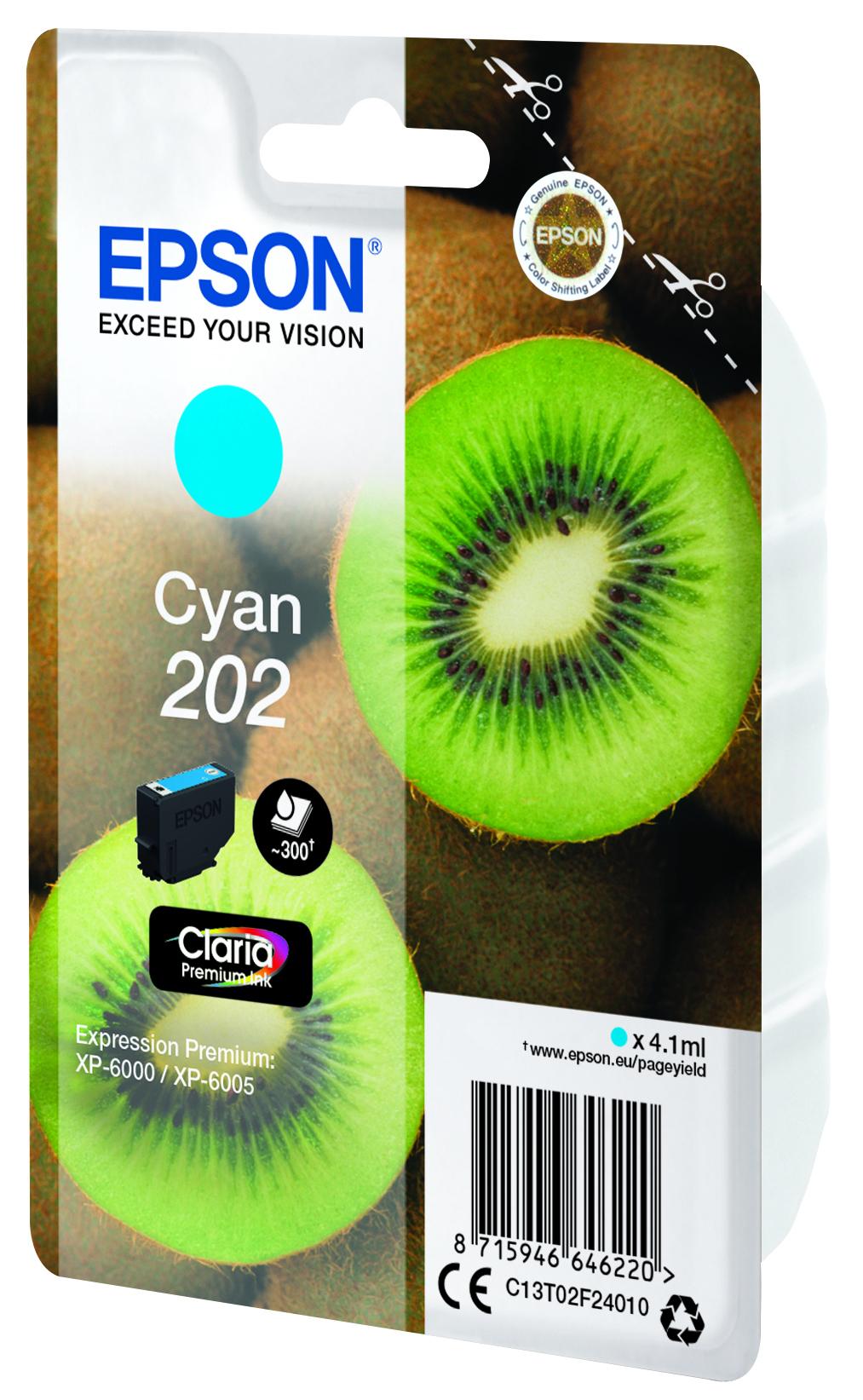 Epson-C13T02F24020-Kiwi-Singlepack-Cyan-202-Claria-Premium-Ink-Original thumbnail 4