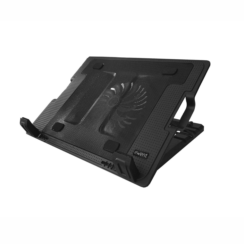 Ewent EW1258 17Zoll 1000RPM Schwarz Notebook-Kühlpad