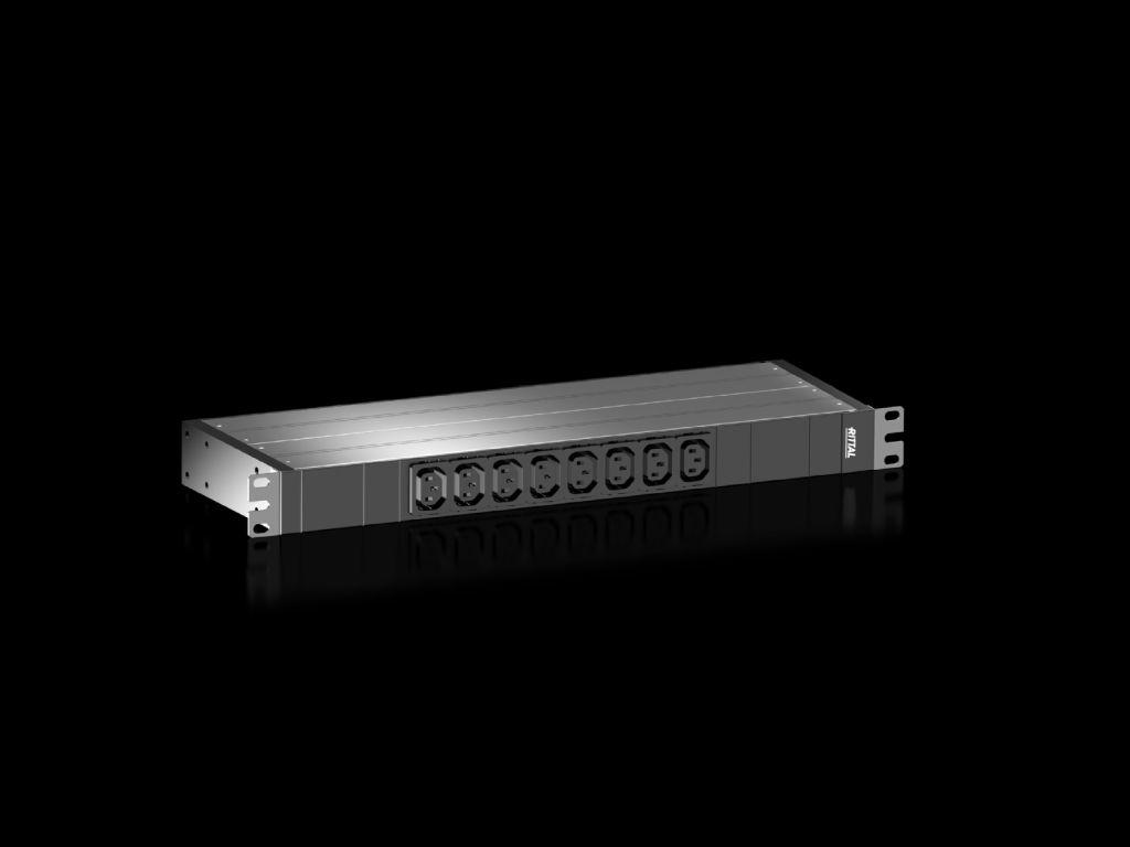 """Rittal PDU basic 16A/1P IEC-C20 8xC13 - 19"""" - Rack-Modul"""
