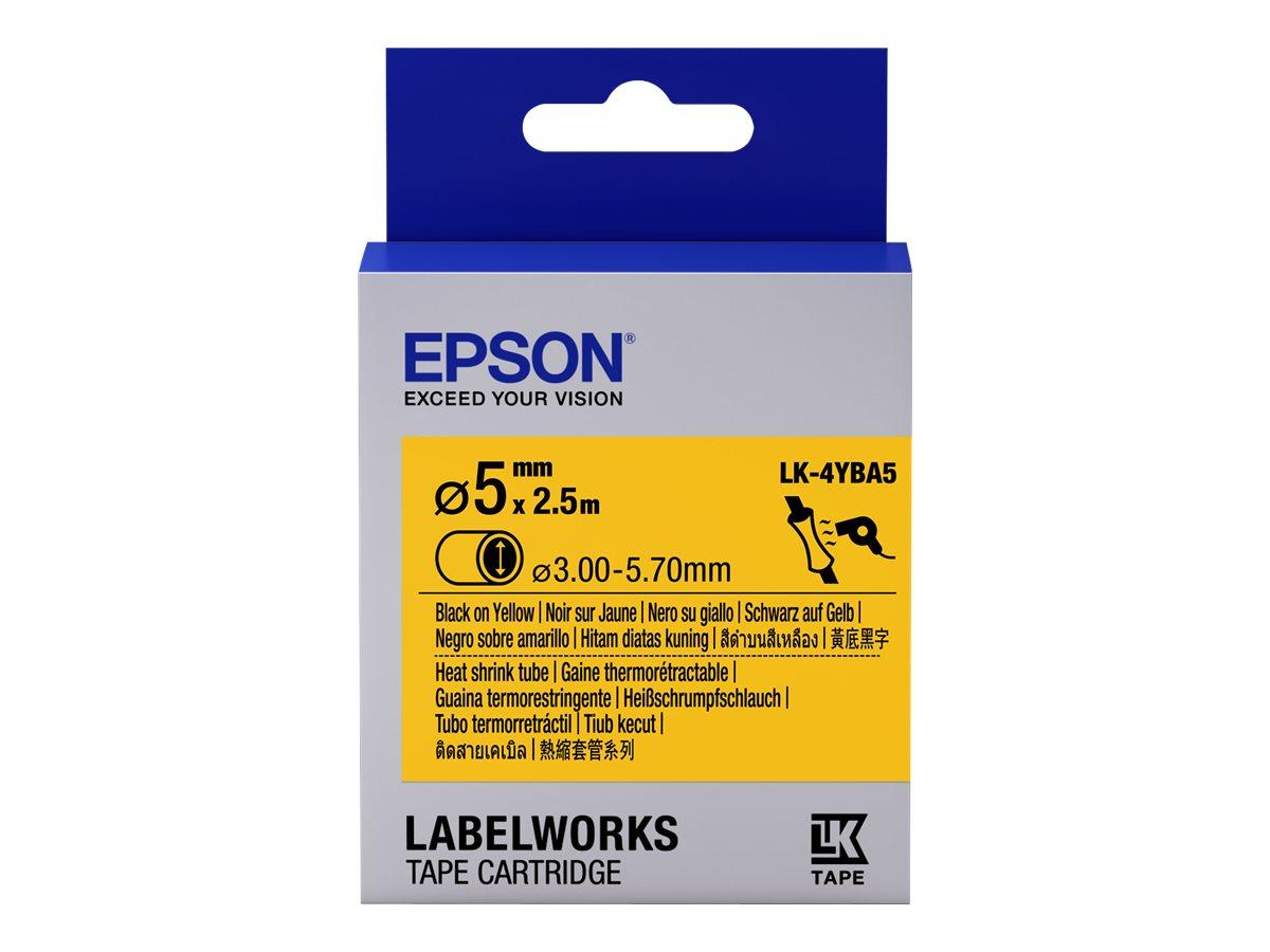 Epson LabelWorks LK-4YBA5 - Schwarz auf Gelb