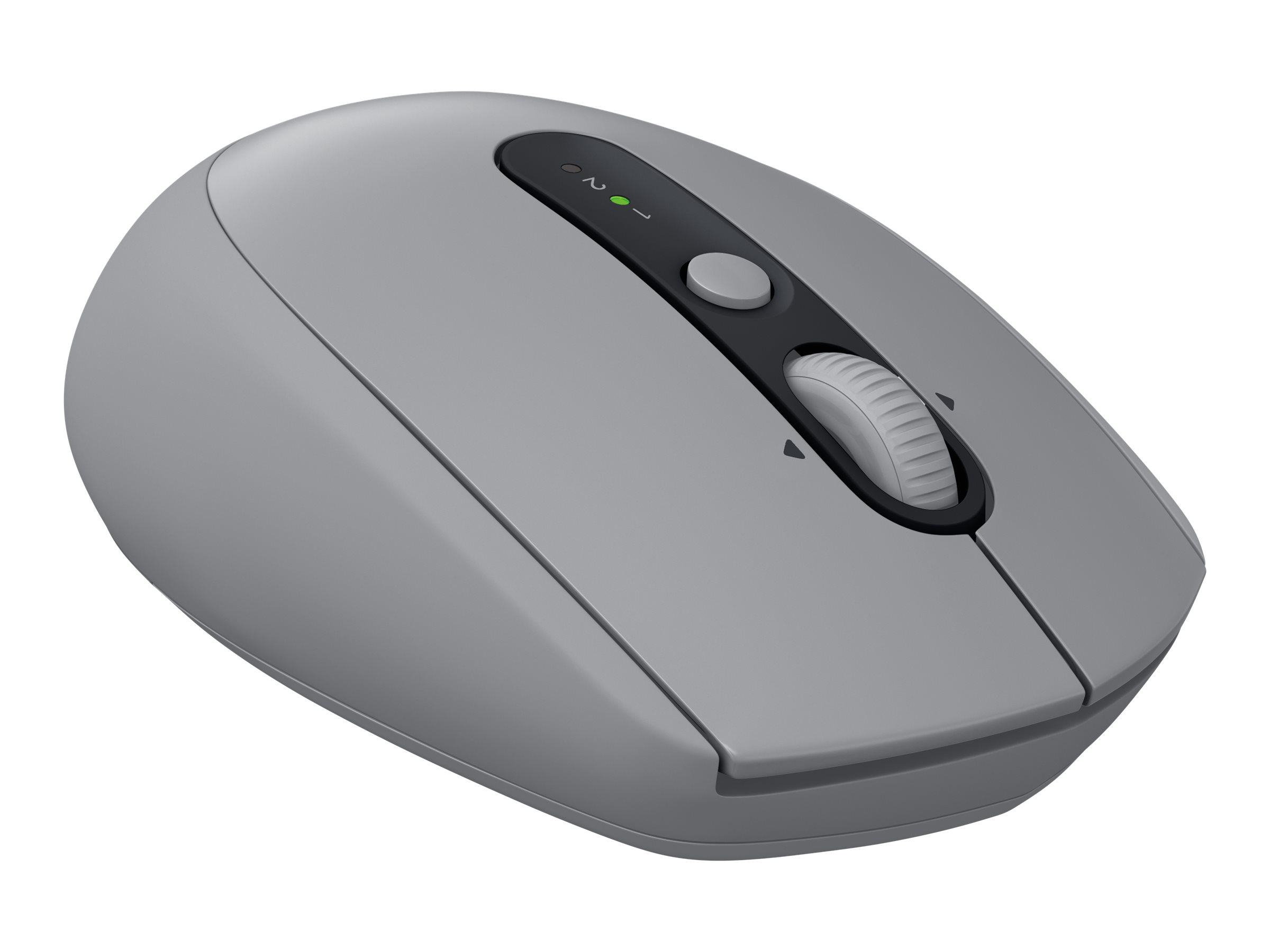 Logitech M590 Silent - Maus - Für Rechtshänder - optisch - 7 Tasten - kabellos - Bluetooth, 2.4 GHz - kabelloser Empfänger (USB)