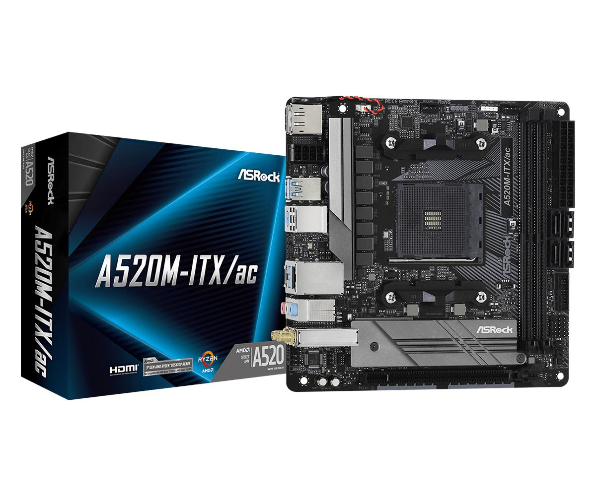 ASRock A520MITX/ac AMD Socket AM4 AMD Ryzen 3 3rd Gen 3rd Generation AMD Ryzen 5 2nd Generation AMD Ryzen™ 7 3rd Generation AMD... DDR4SDRAM D
