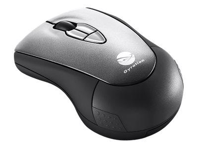Gyration Air GYM2200 - Maus - Laser - 5 Tasten - kabellos - 2.4 GHz - kabelloser Empfänger (USB)