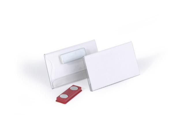 Durable Namensschild mit Magnet 40 x 75 mm - Abzeichen - Landschaft - PVC - Transparent - 75 mm - 40 mm
