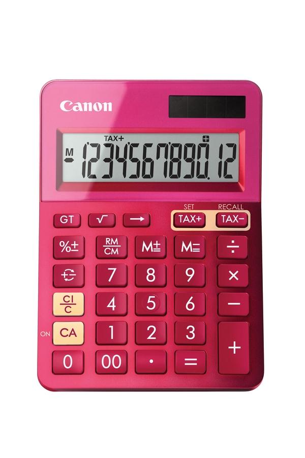 Canon LS-123k Desktop Einfacher Taschenrechner Pink