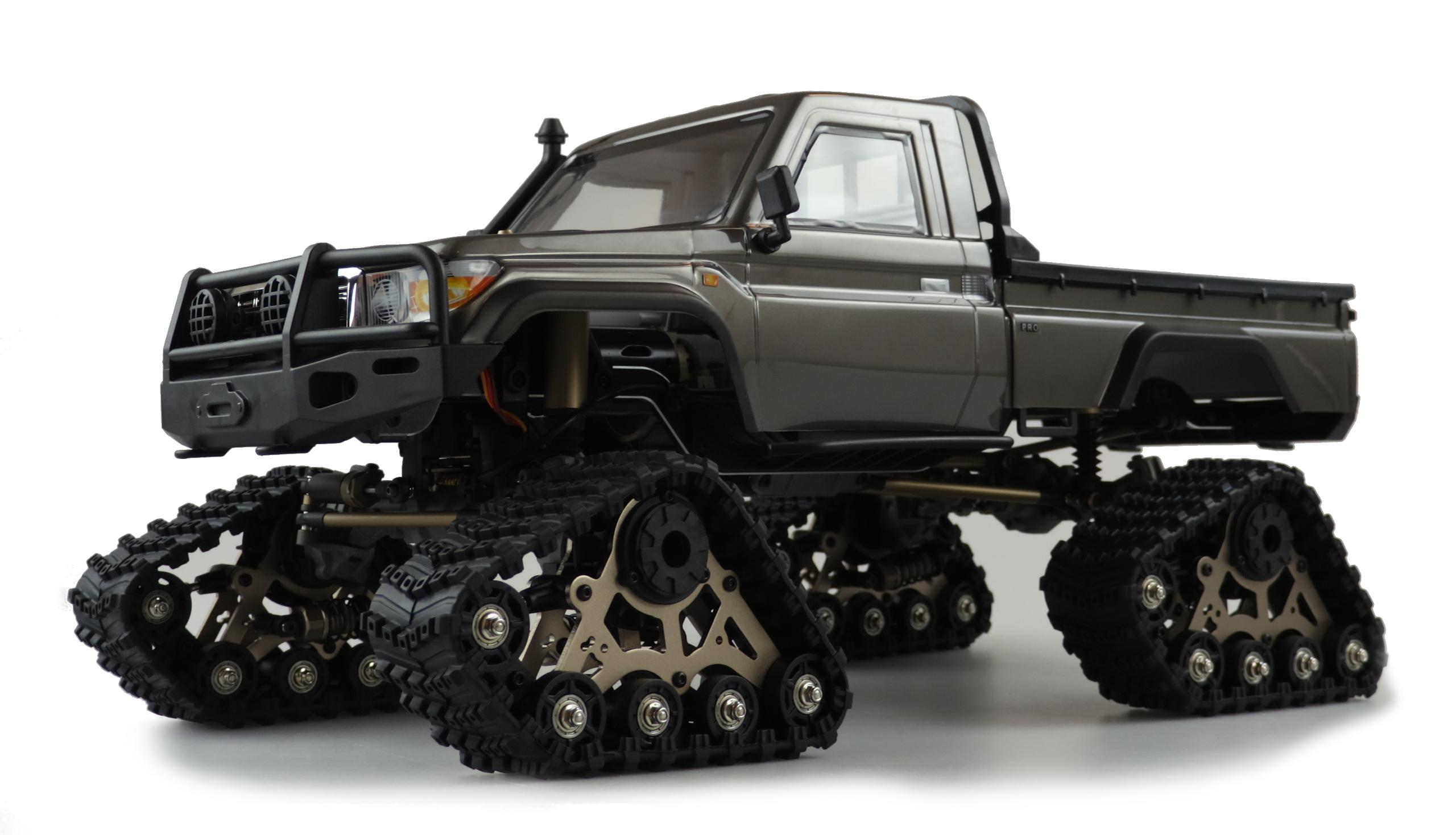 Amewi 22459 - Raupenfahrzeug - Elektromotor - 1:10 - Betriebsbereit (RTR) - Schwarz - Aluminium - Metall
