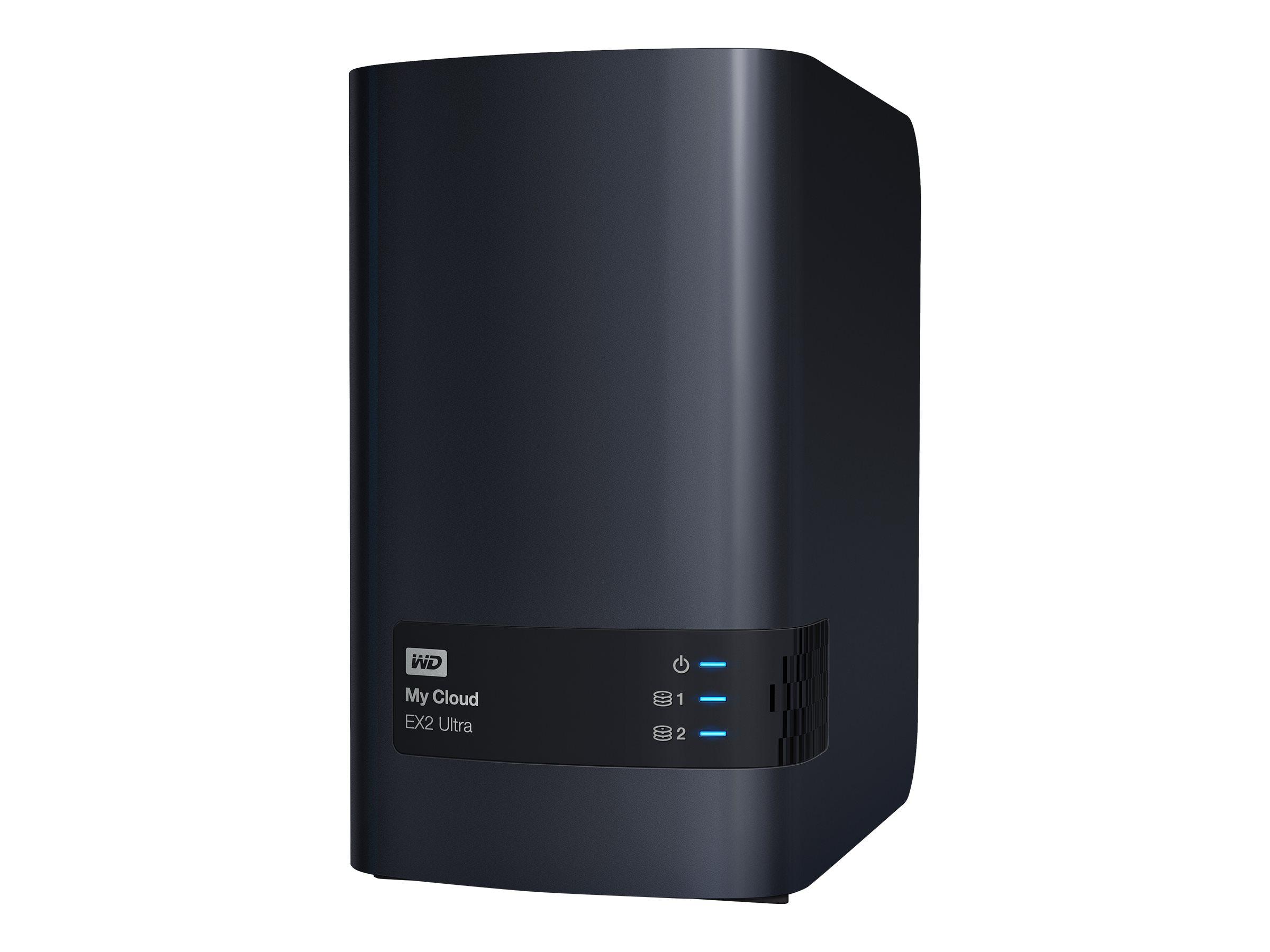 WD My Cloud EX2 Ultra WDBVBZ0000NCH - Gerät für persönlichen Cloudspeicher 2 Schächte - RAID 0 - 1 - JBOD - RAM 1 GB - Gigabit Ethernet - iSCSI