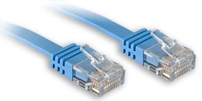 Lindy Cat.6 UTP Flachband-Patchkabel blau - Kabel