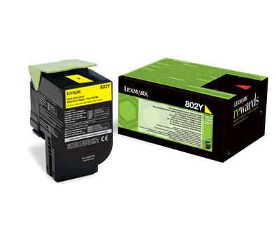 Lexmark 802Y Laser cartridge 1000Seiten Gelb