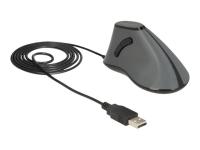 12527 USB Optisch 800DPI rechts Schwarz - Grau Maus