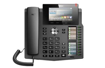 Fanvil X6 - IP-Telefon - Schwarz - Kabelgebundenes Mobilteil - Tisch/Wand - Im Band - Out-of band - SIP-Info - 6 Zeilen