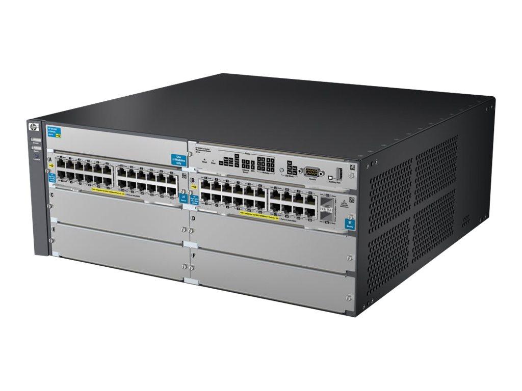 HP 5406-44G-PoE+-2XG v2 zl Switch w Pm SW (J9533A)