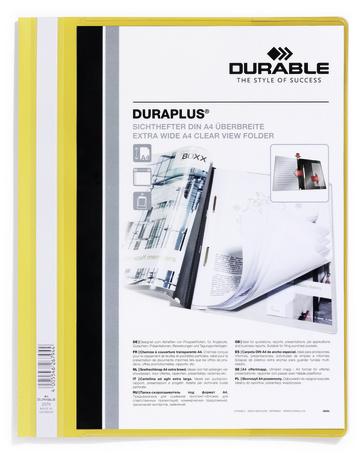 Durable257904 - DURAPLUS - Schnellhefter - Gelb - A4