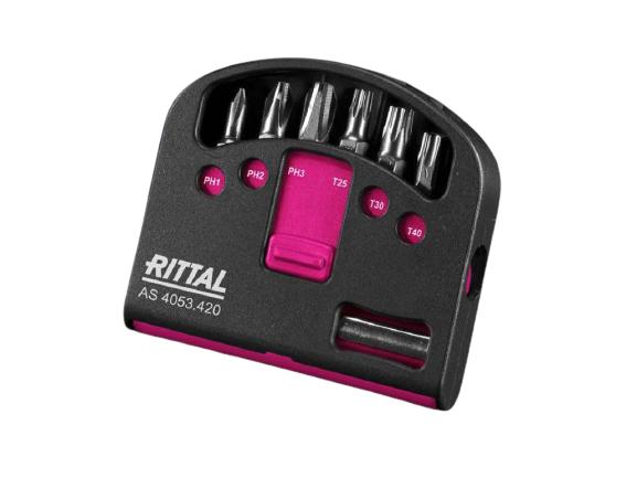 Rittal Industrie Bit-Set für Akkuschrauber mit Bithalter
