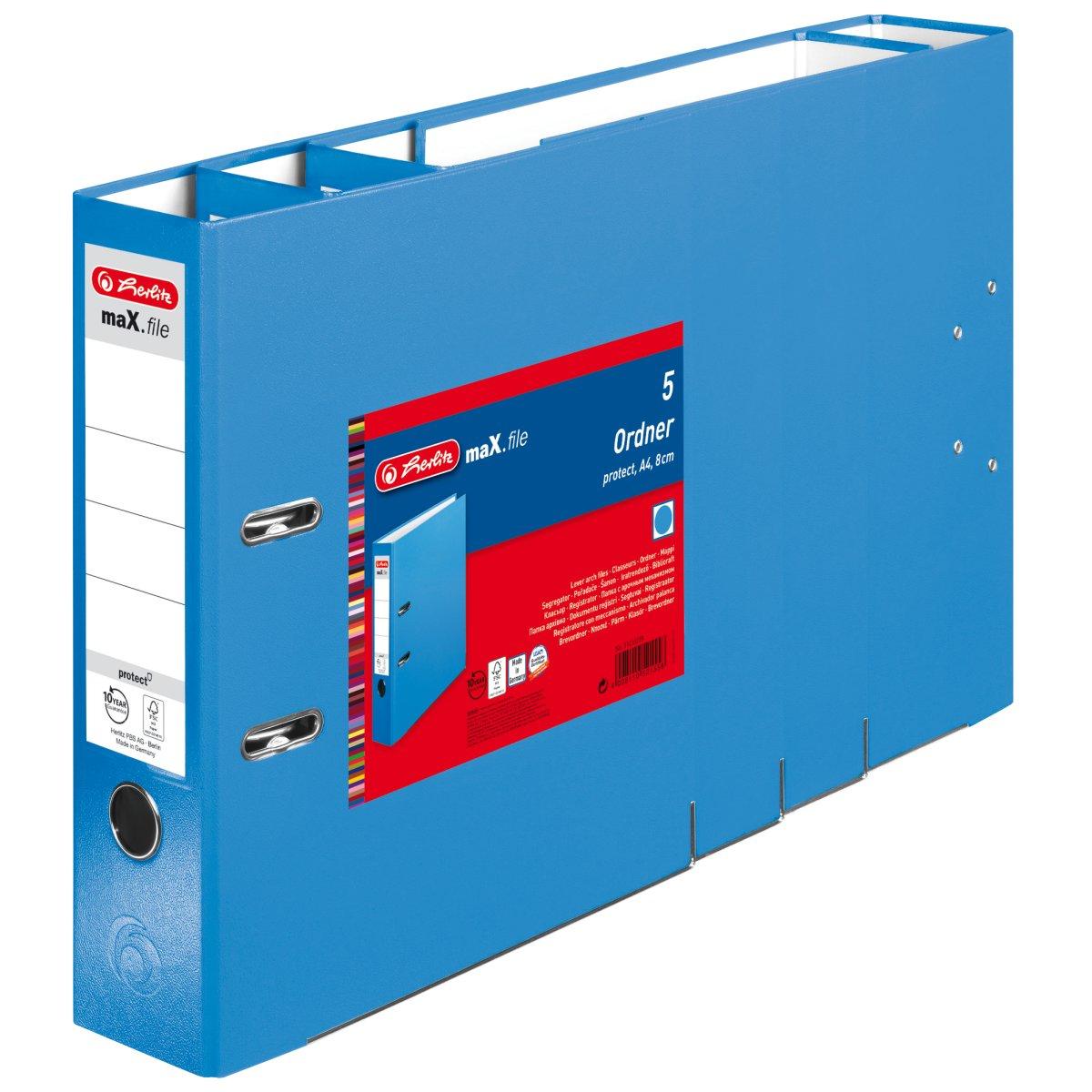 Vorschau: Herlitz 11416278 - 5 Blätter - Blau - Polypropylen (PP) - A4 - 80 mm