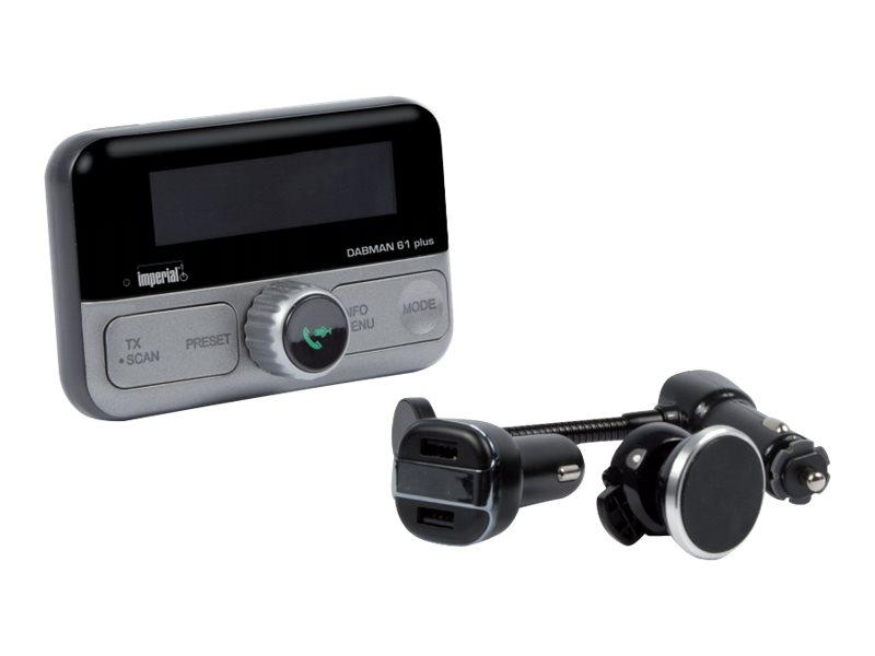 Telestar imperial DABMAN 61 plus - DAB+/Bluetooth-Freisprecheinrichtung / FM-Transmitter / Ladegerät für Handy