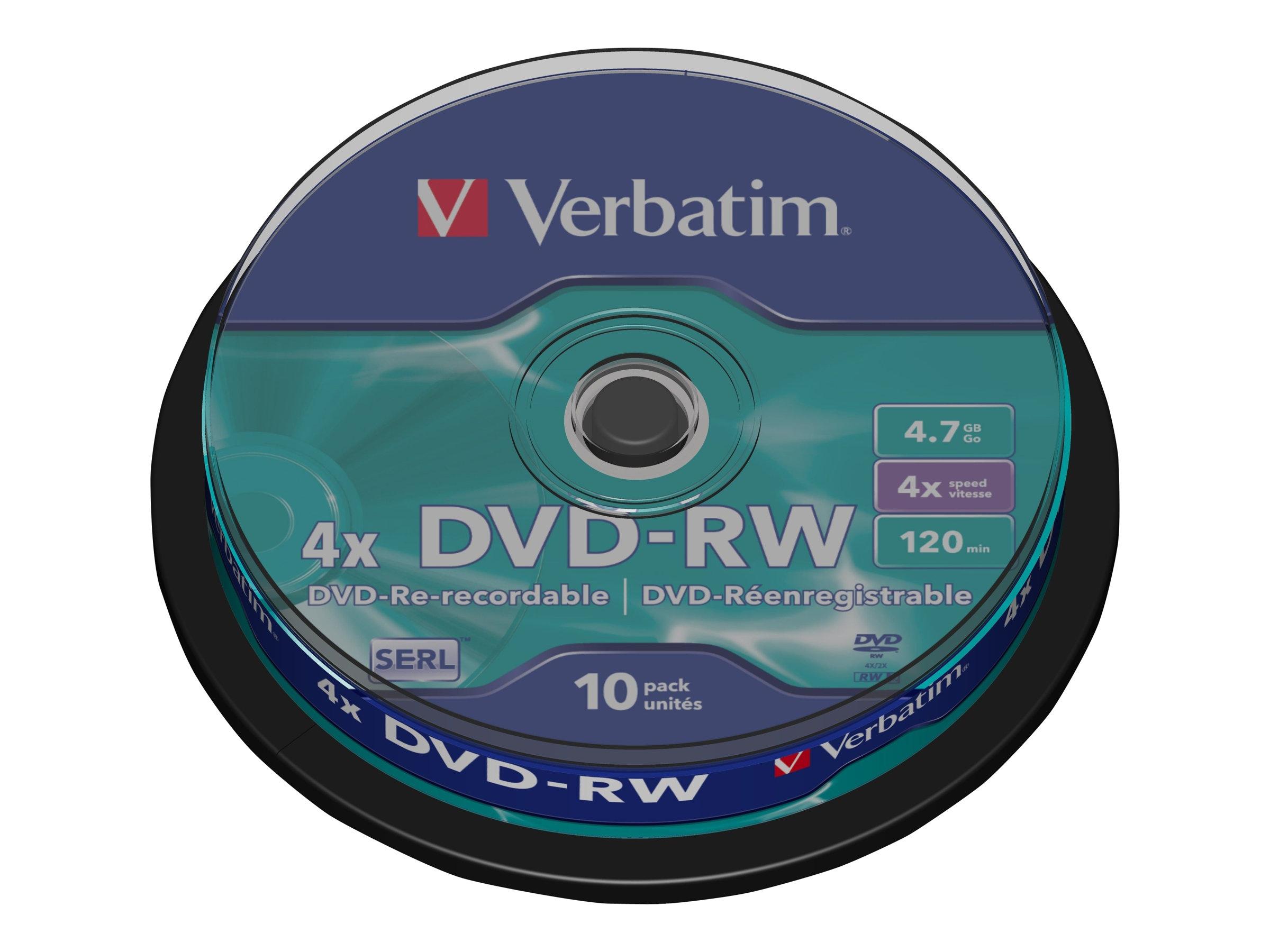 Verbatim DataLifePlus - 10 x DVD-RW - 4.7 GB 4x