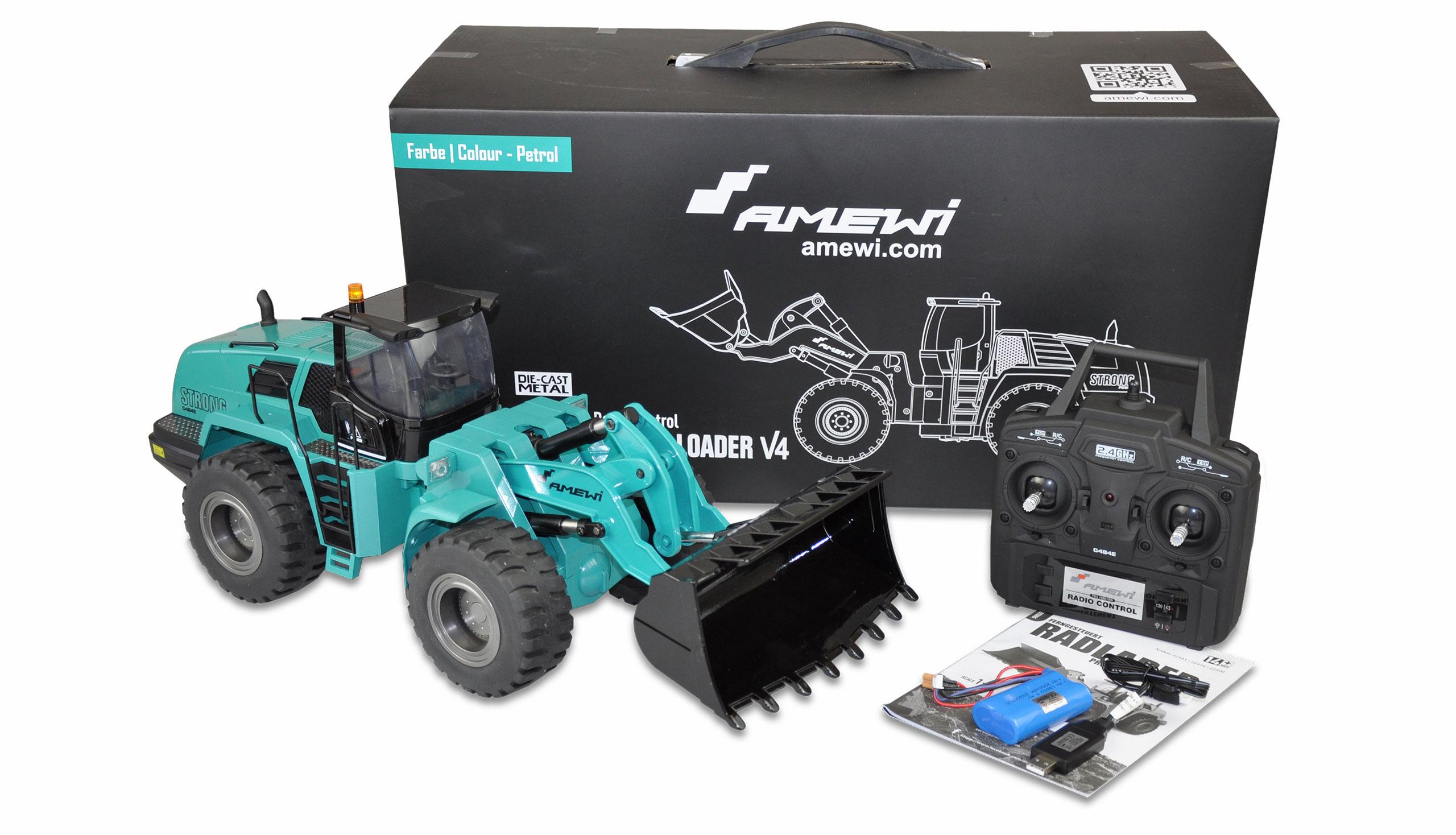 Amewi Radlader G484E - Traktor - 1:14 - Junge - 2000 mAh - 4,8 kg