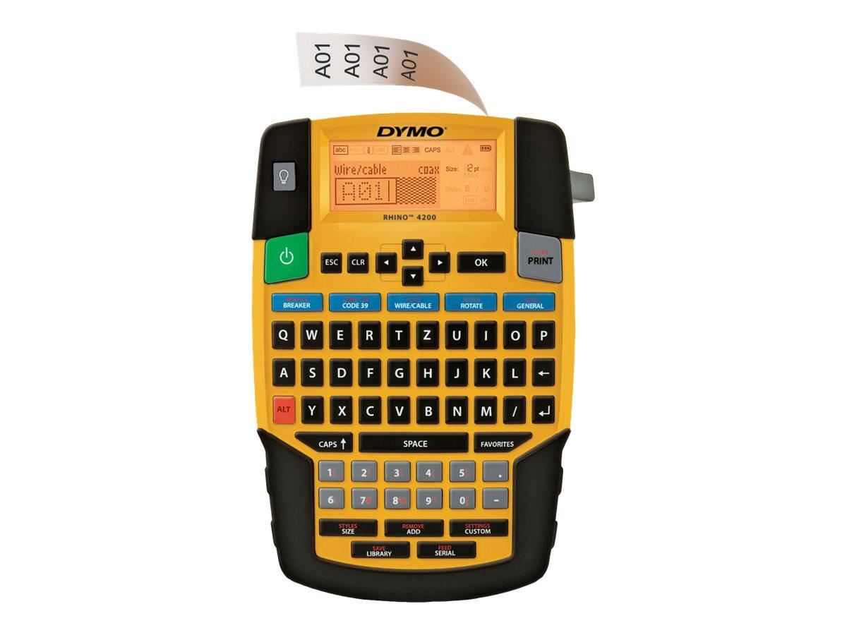 Dymo Rhino 4200 Kit - Beschriftungsgerät - s/w - Thermotransfer - Rolle (1,9 cm)