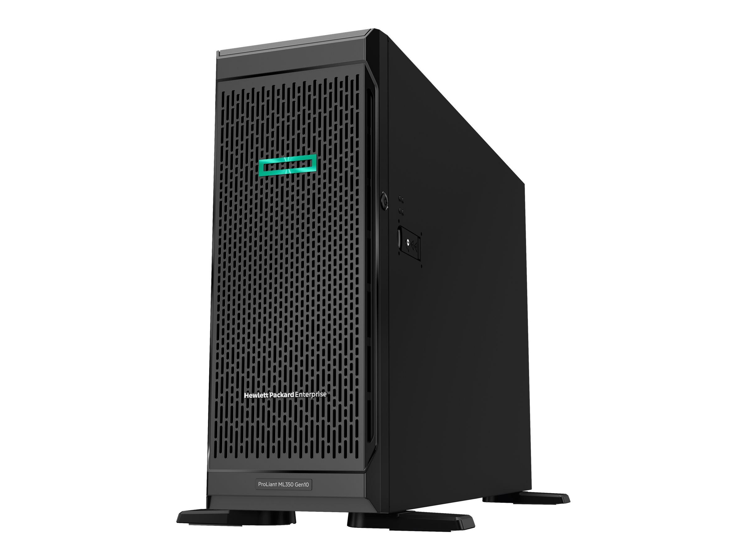 HP Enterprise ProLiant ML350 Gen10 Base - Server - Tower - 4U - zweiweg - 1 x Xeon Silver 4110 / 2.1 GHz - RAM 16 GB - S