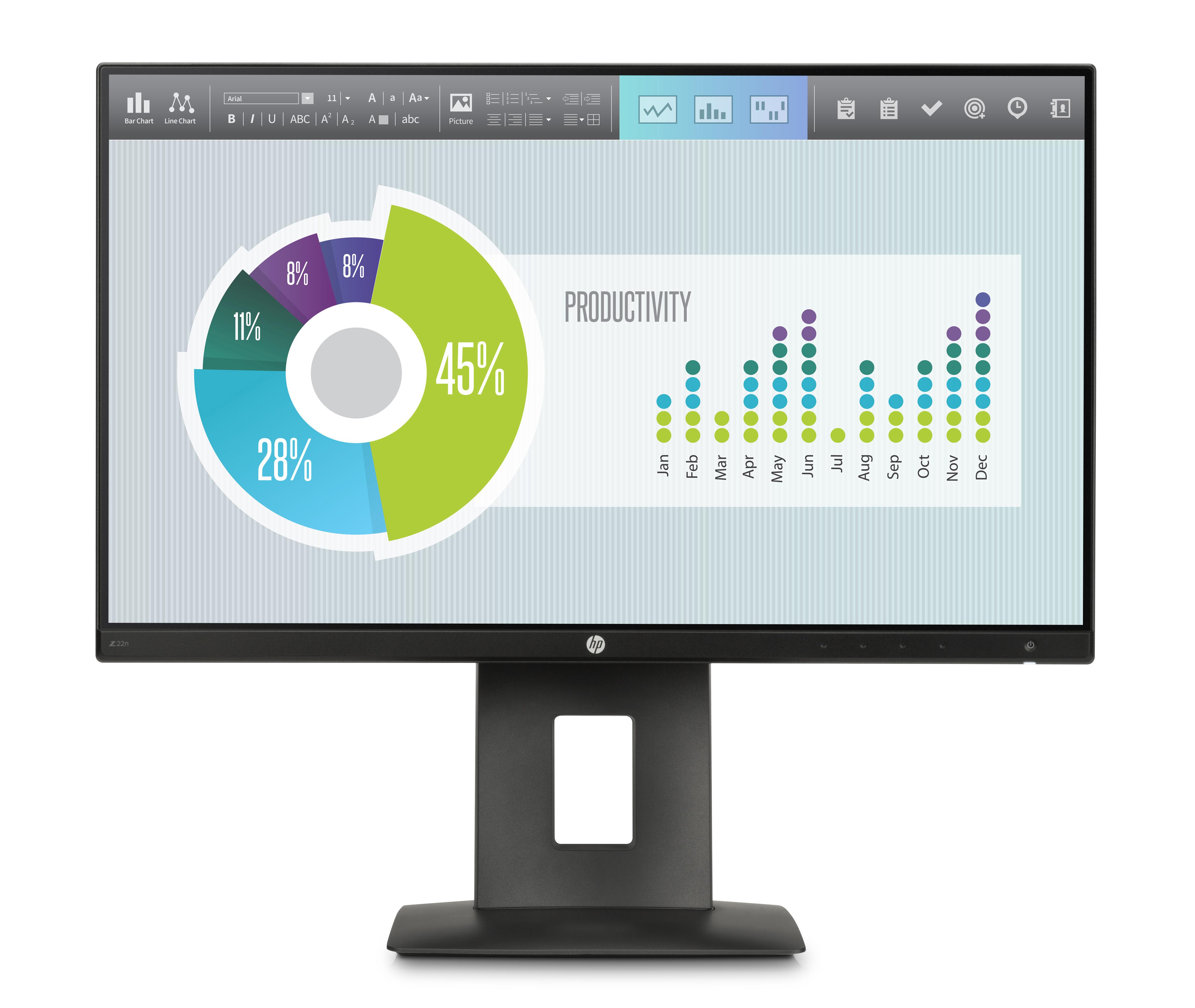 HP Z22n - LED-Monitor - 54.6 cm (21.5) (21.5 sichtbar)