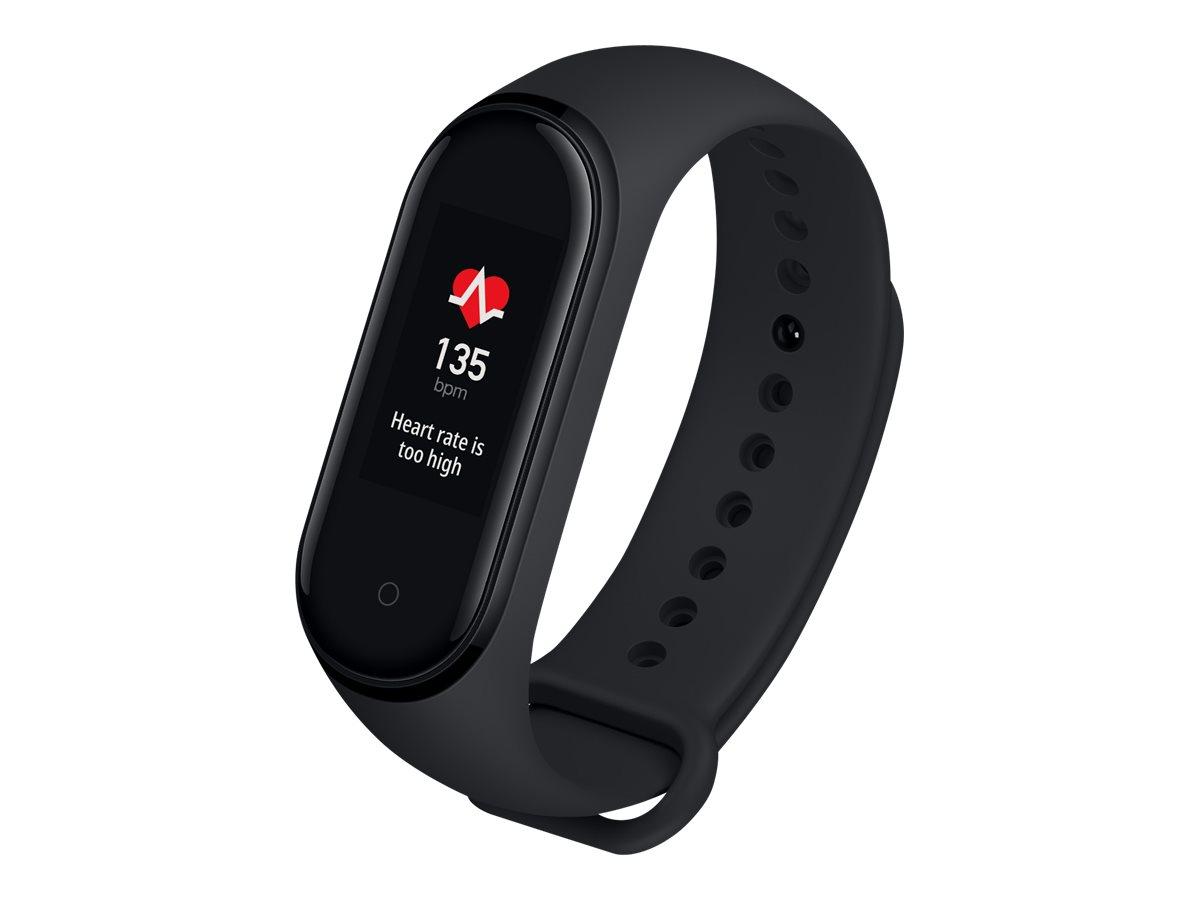"""Xiaomi Mi Smart Band 4 - Aktivitätsmesser mit Band - TPU - schwarz - Bandgröße 155-216 mm - Anzeige 2.4 cm (0.95"""")"""