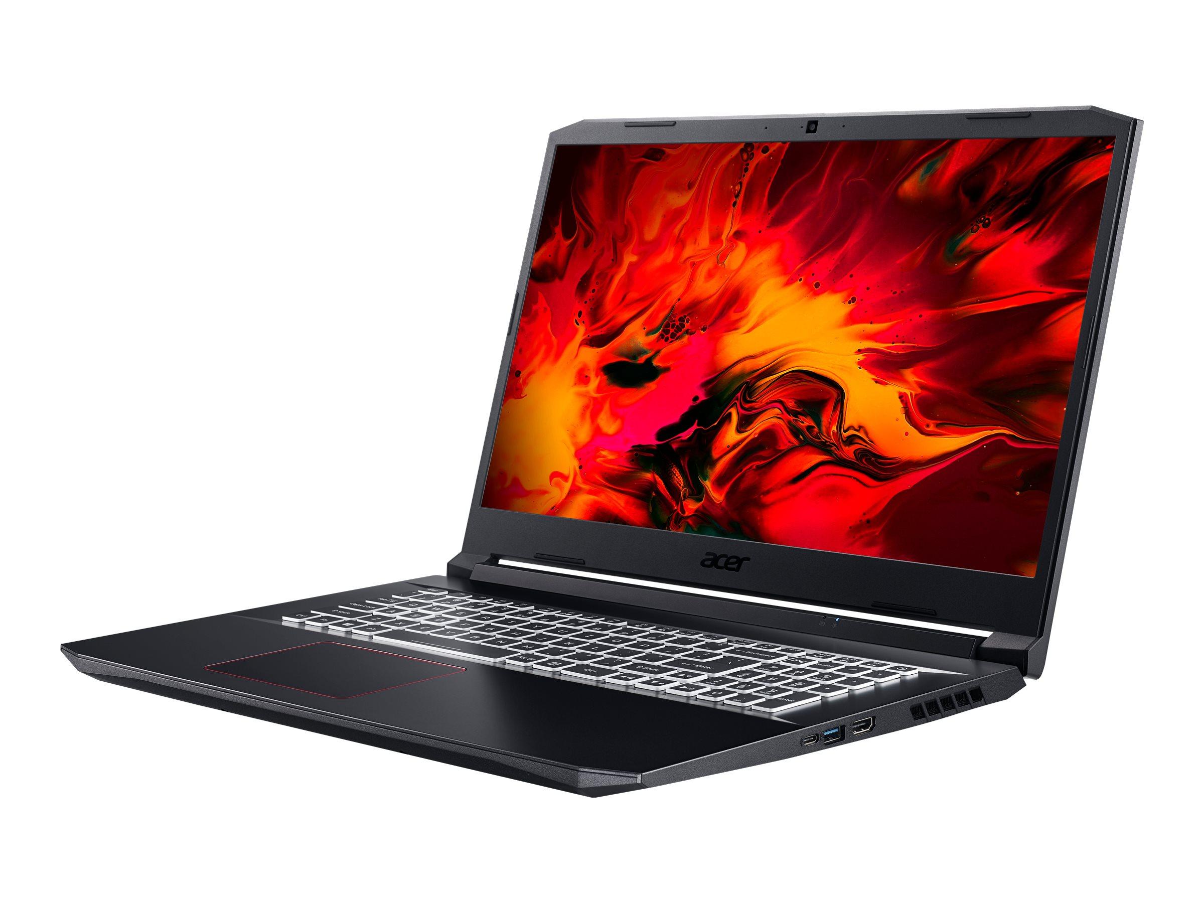 "Acer Nitro 5 AN517-52-74ZU - Core i7 10750H / 2.6 GHz - Win 10 Home 64-Bit - 16 GB RAM - 512 GB SSD - 43.94 cm (17.3"")"