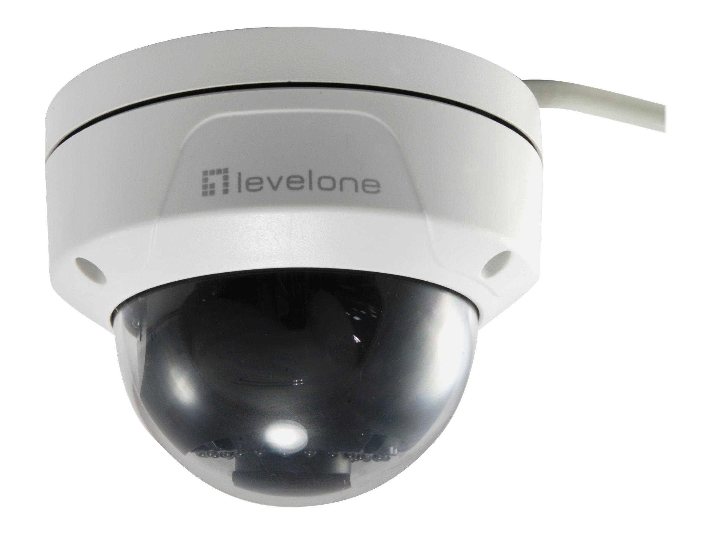 LevelOne FCS-3087 - Netzwerk-Überwachungskamera - Kuppel - Außenbereich - Vandalismussicher / Wetterbeständig - Farbe (Tag&Nacht)