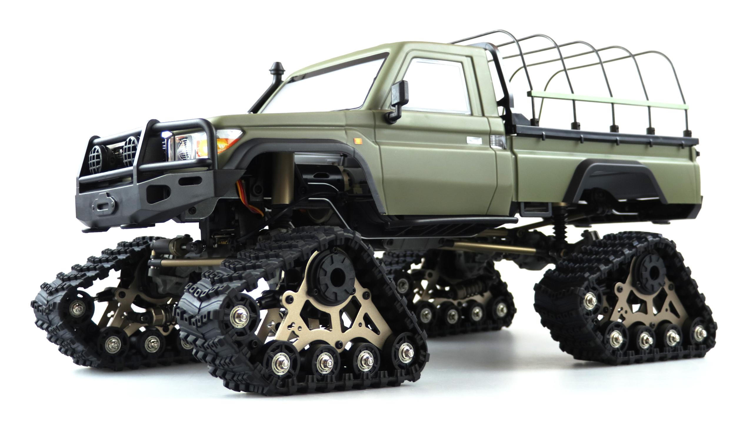 Amewi AMXROCK RCX10PTS - Off-Road-Wagen - Elektromotor - 1:10 - Fahrbereit (RTD) - Grün - Metall