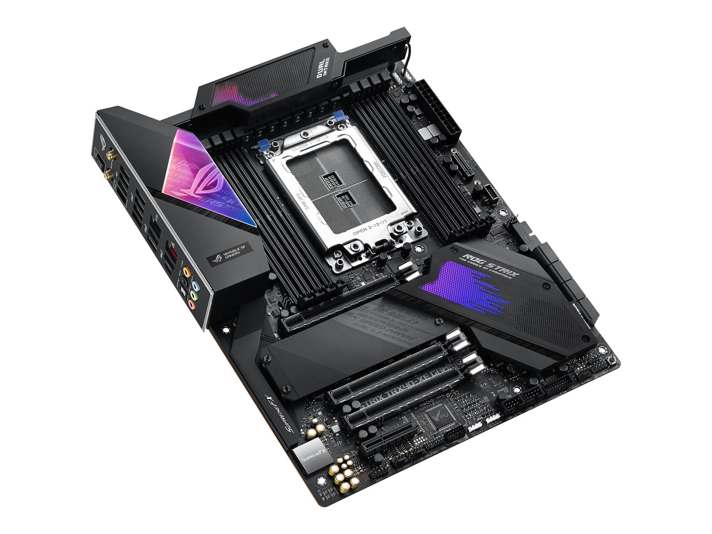 ASUS ROG STRIX TRX40-XE GAMING - Motherboard - ATX - Socket sTRX4 - AMD TRX40 - USB-C Gen2, USB 3.2 Gen 1, USB 3.2 Gen 2 - Gigabit LAN, 2.5 Gigabit LAN, Wi-Fi, Bluetooth - HD Audio (8-Kanal)