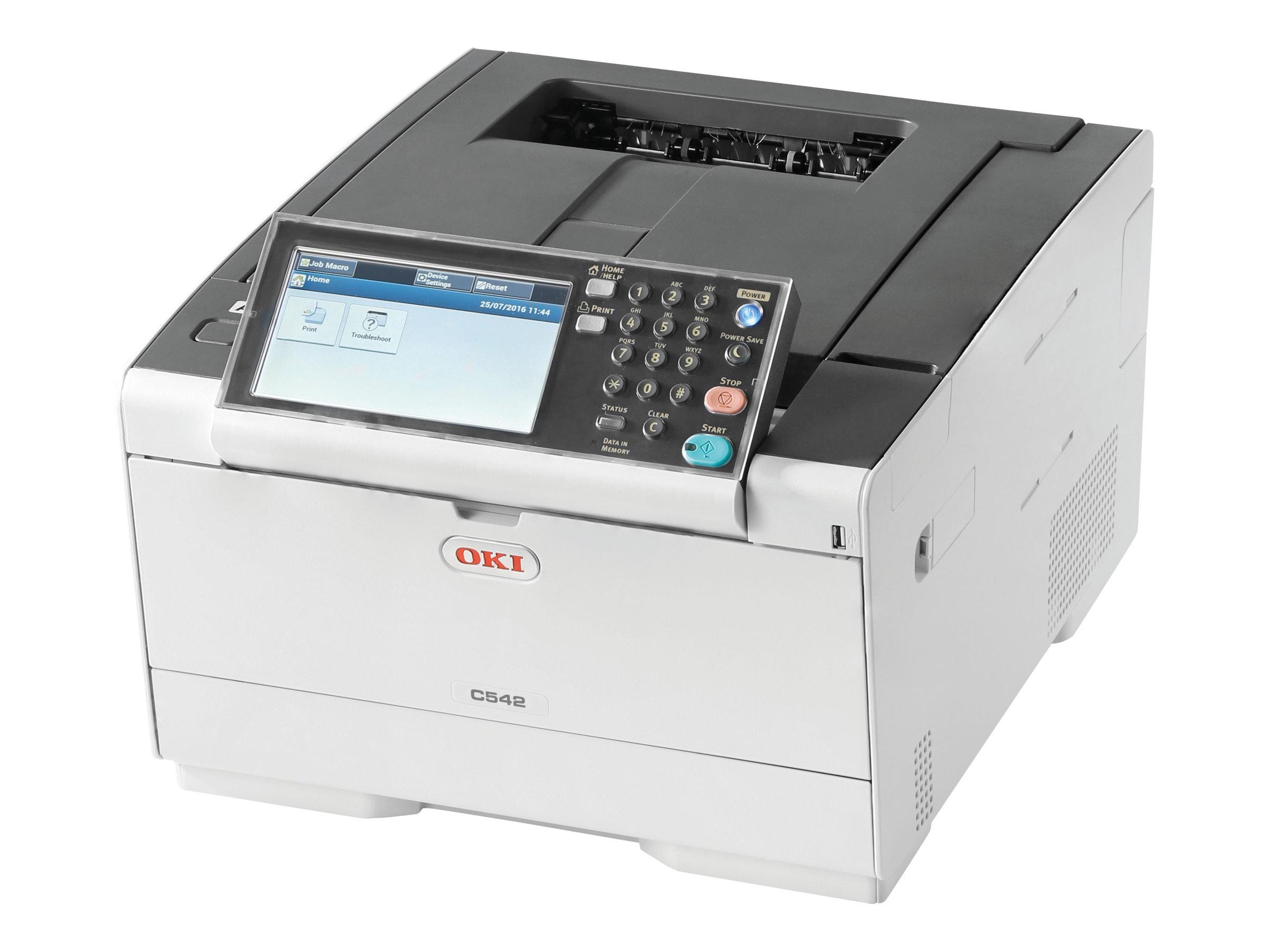 OKI C542dn - Drucker - Farbe - Duplex - LED - A4 - 1200 x 1200 dpi - bis zu 30 Seiten/Min. (einfarbig)/