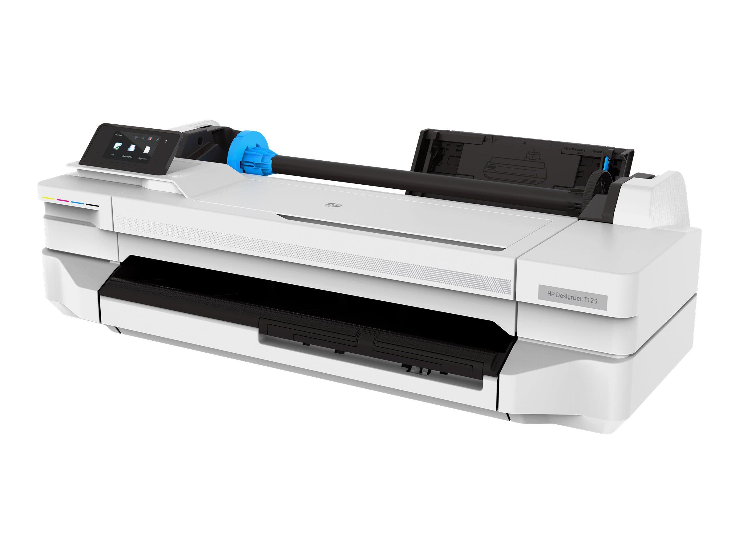 HP DesignJet T125 - 610 mm Großformatdrucker - Farbe - Tintenstrahl - A1, Rolle