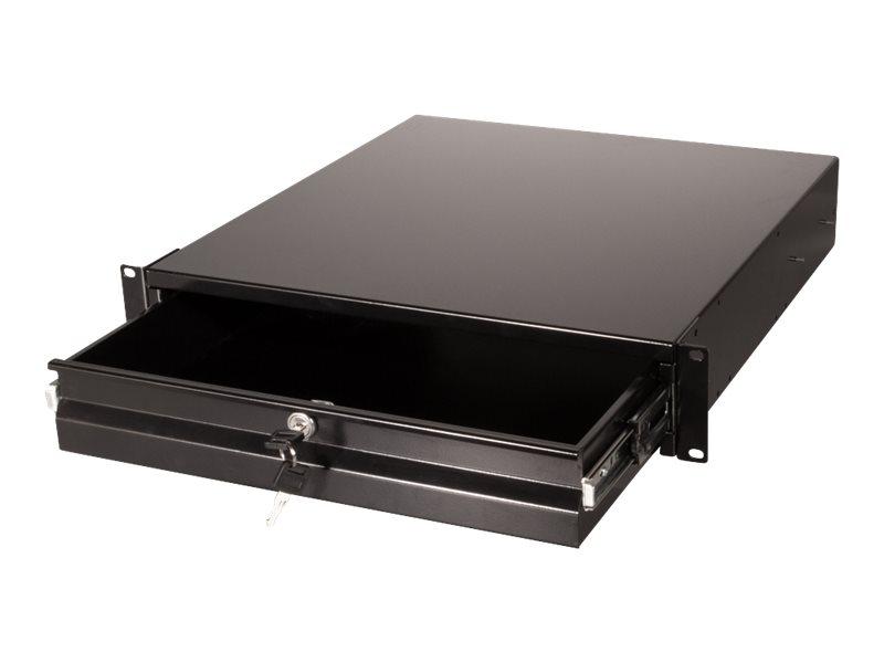 """Vorschau: LogiLink Rack Storage Drawer - Schwarz, RAL 9004 - 2U - 48.3 cm (19"""")"""