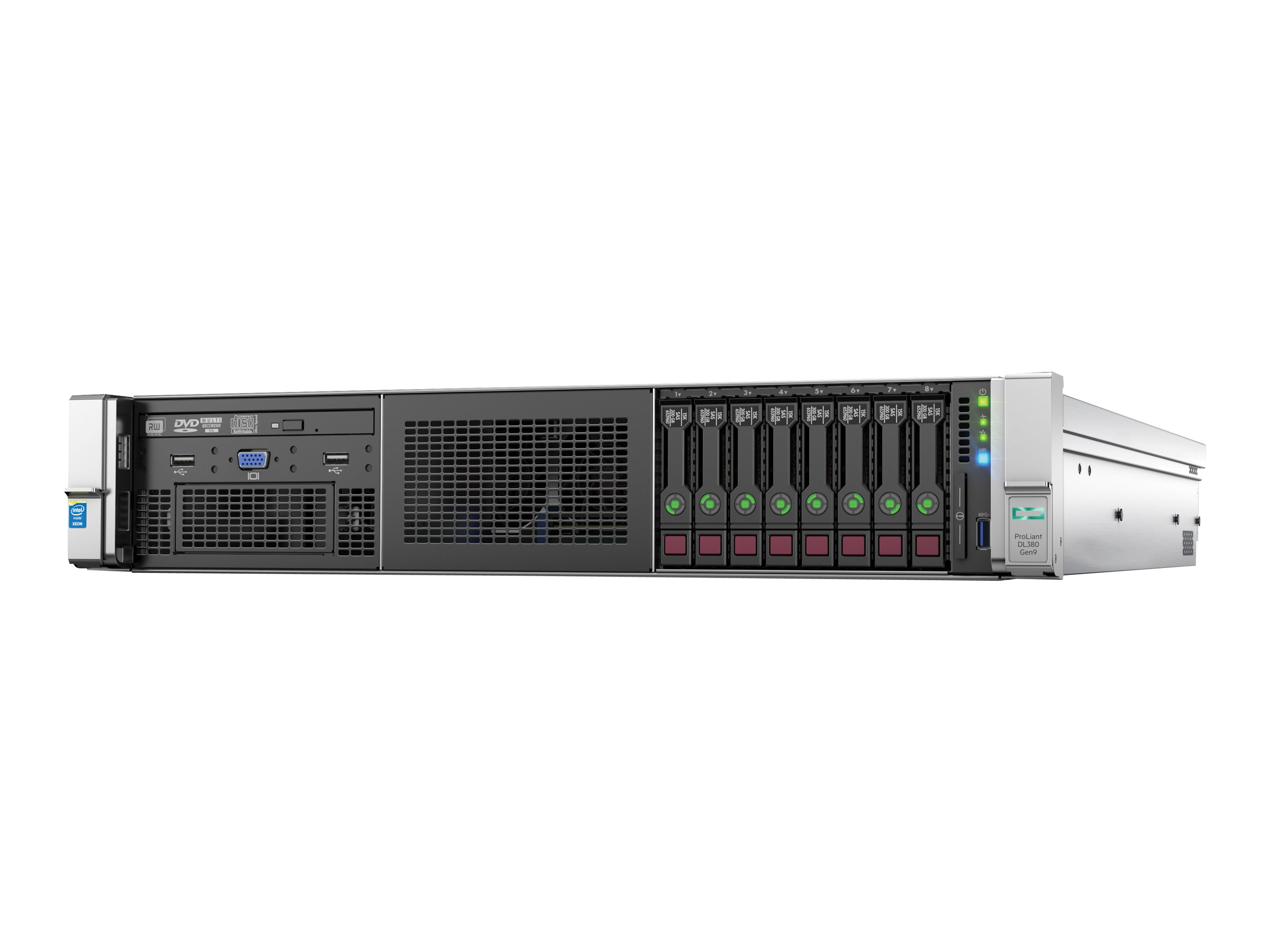 HPE DL380 Gen9 E5-2620v3 1P 16G 8SFF Svr (752687-B21) - REFURB