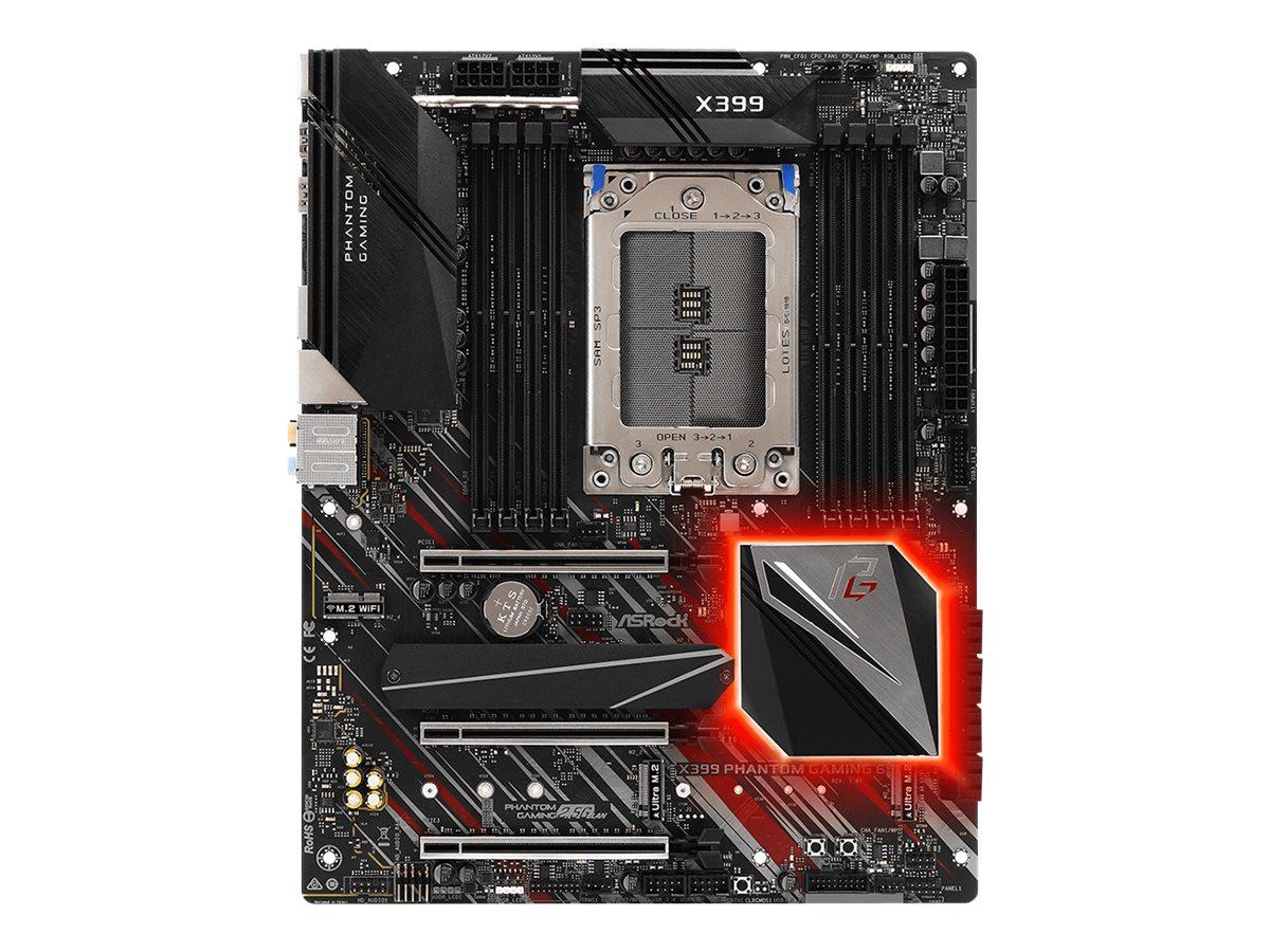 ASRock X399 Phantom Gaming 6 - Motherboard - ATX - Socket TR4 - AMD X399 - USB 3.1 Gen 1, USB-C Gen2, USB 3.1 Gen 2 - Gi