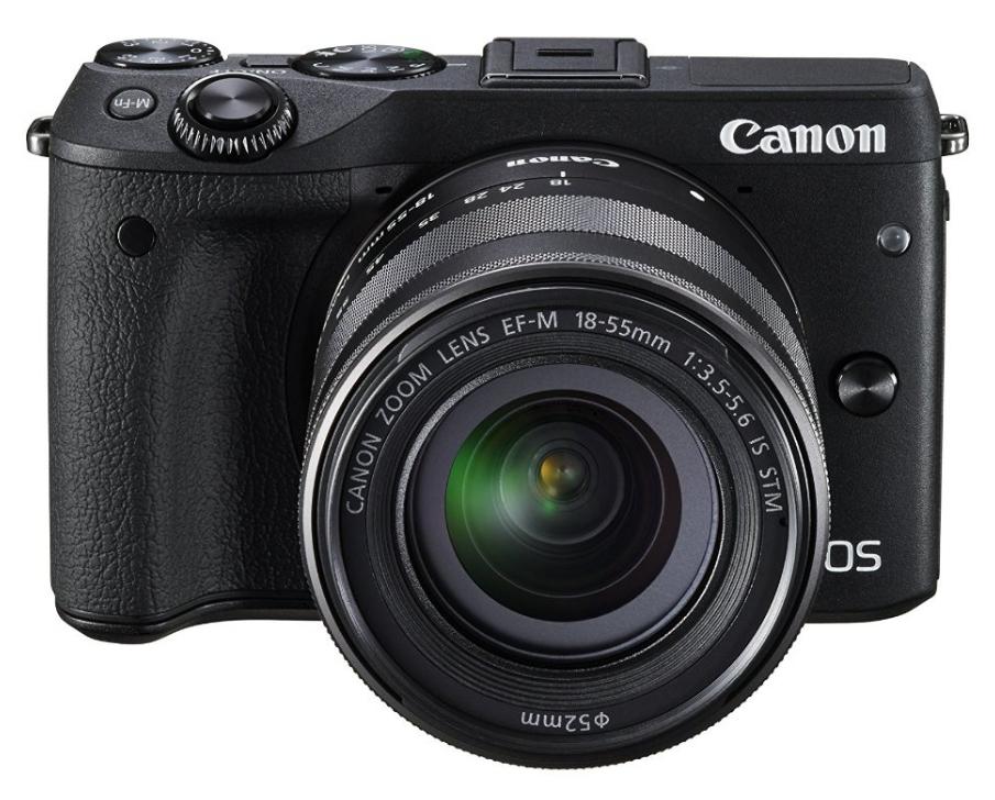 Canon EOS M3 + EF-M 18-55mm Systemkamera 24.2MP CMOS 6000 x 4000Pixel Schwarz