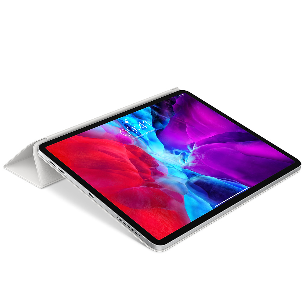 """Apple Smart Folio - Flip-Hülle für Tablet - Polyurethan - weiß - 12.9"""" - für 12.9-inch iPad Pro (3. Generation, 4. Generation)"""