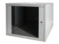 "19"" 7U Wall Mounting Cabinet - Unmounted Wandmontiertes Regal Grau Rack"