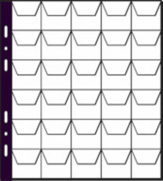 Pagna 30600-19 - Münzhüllen - 30 Fächer - Kunststoff - Schwarz