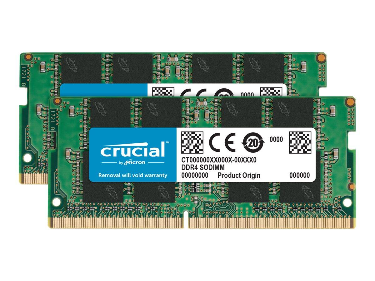 Crucial DDR4 - kit - 16 GB: 2 x 8 GB - SO DIMM 260-PIN