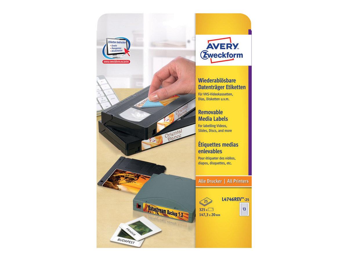 Avery Zweckform L4746REV - Entfernbarer Klebstoff