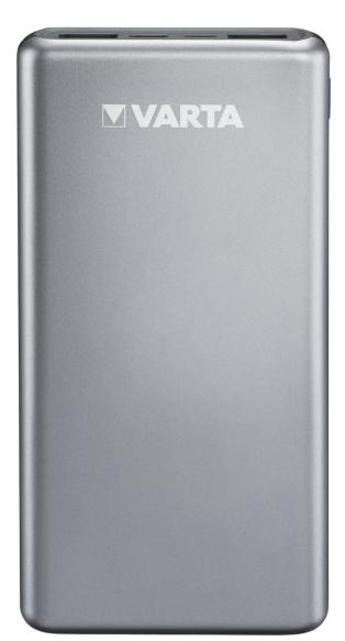 Varta Fast Energy 15000 - Silber - Universal - Aluminium - Lithium Polymer (LiPo) - 15000 mAh - USB
